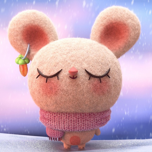 cute cuddly character teddy small animal design