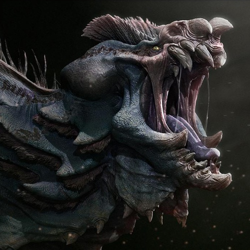 alien monster 3d art