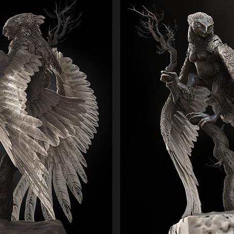 Greek mythology harpy hybrid creature