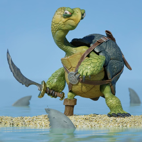 pirate turtle 3d character creature design weaponry