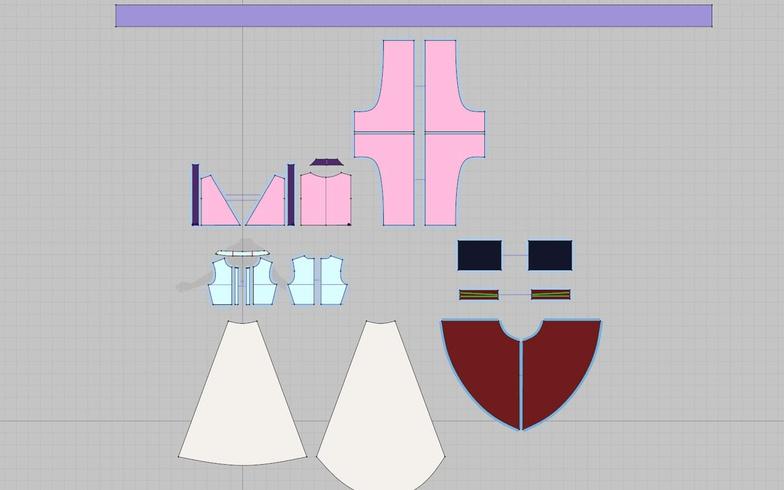 marvelous designer patterns 3d model