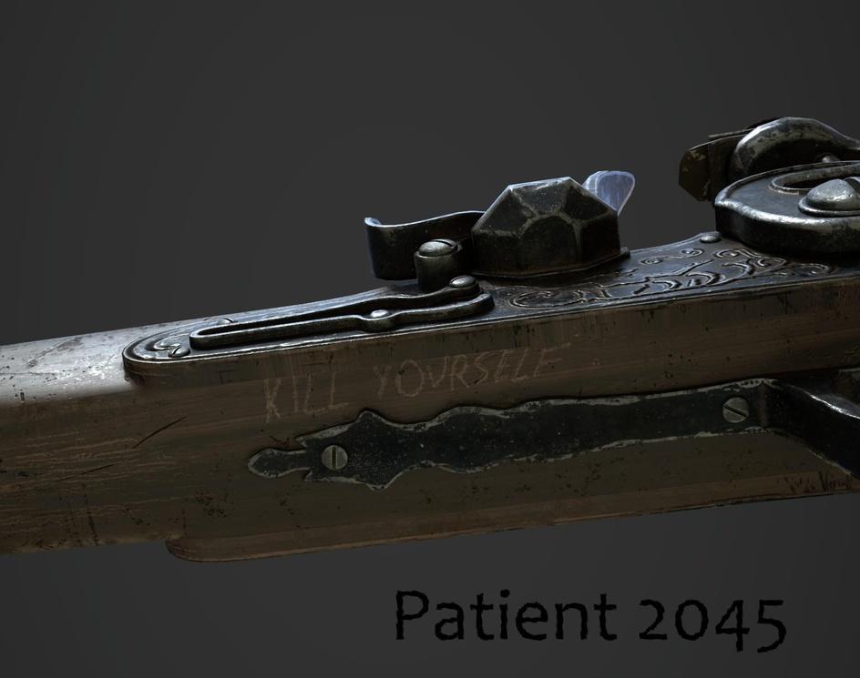 """Flintlock for """"Patient 2045""""by Krystian Golebczyk"""