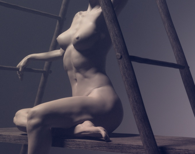 Naked sitting womanby Stavros Karagiannis