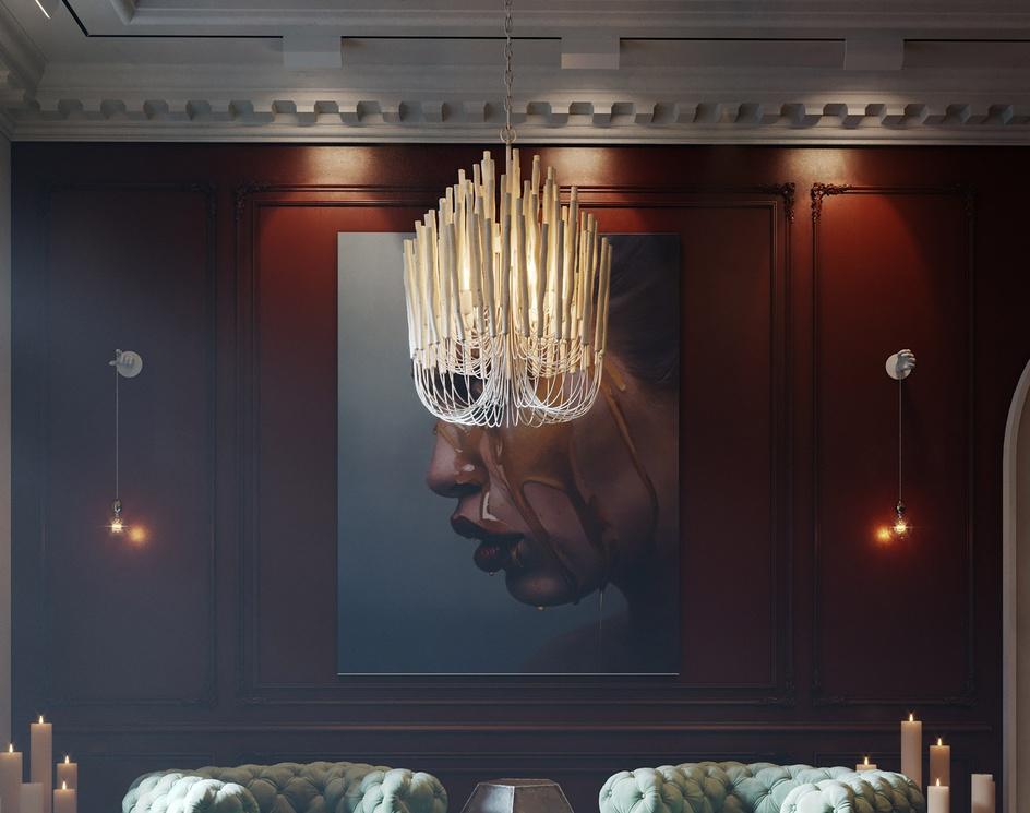 3D Lounge Design Concept with Baxter Furnitureby Lunas3DVisuals