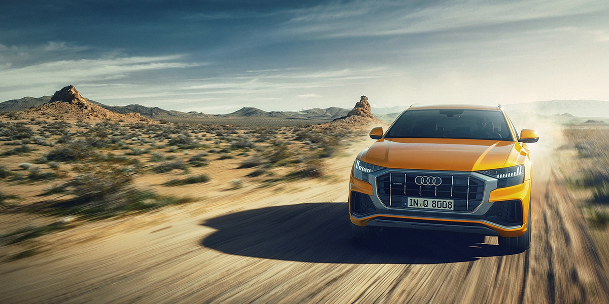 3d gci car art Audi Q8 desert