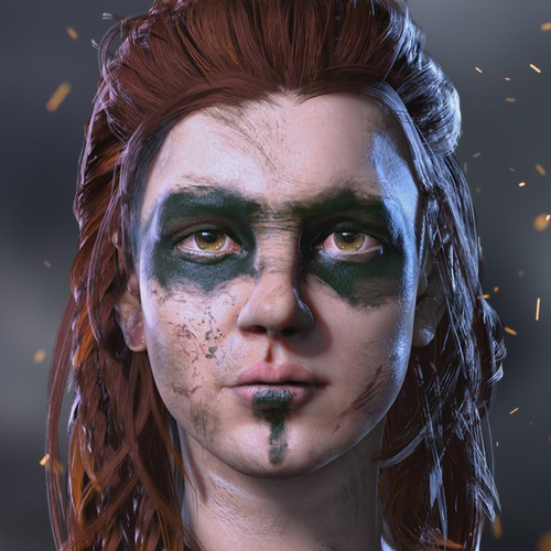 viking woman princess 3d model profile image