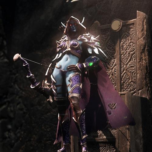 queen banshee female character design model 3d