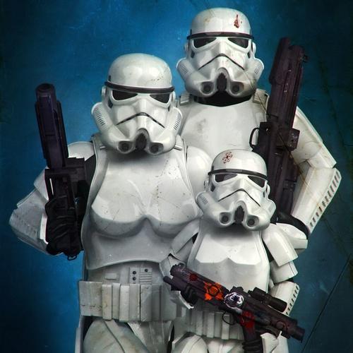 stormtrooper 2d family portrait