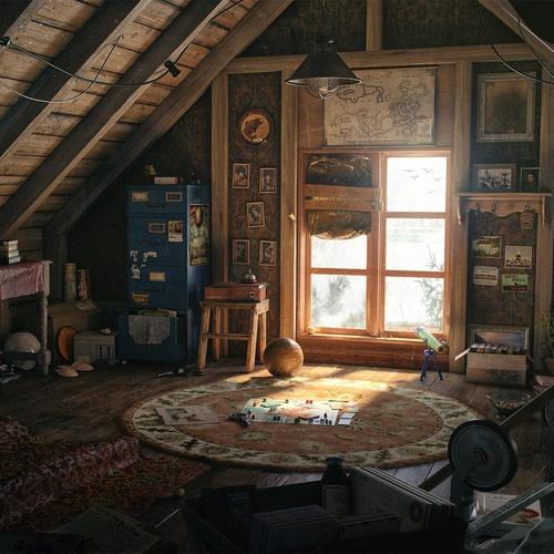 lighting 3d model attic