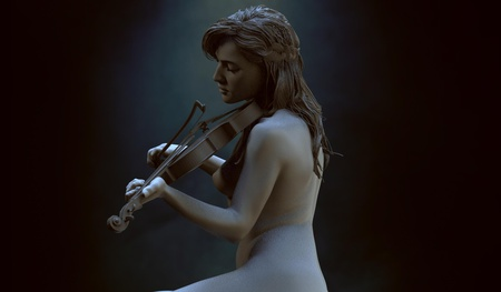 musician render model music 3d sculpt realism
