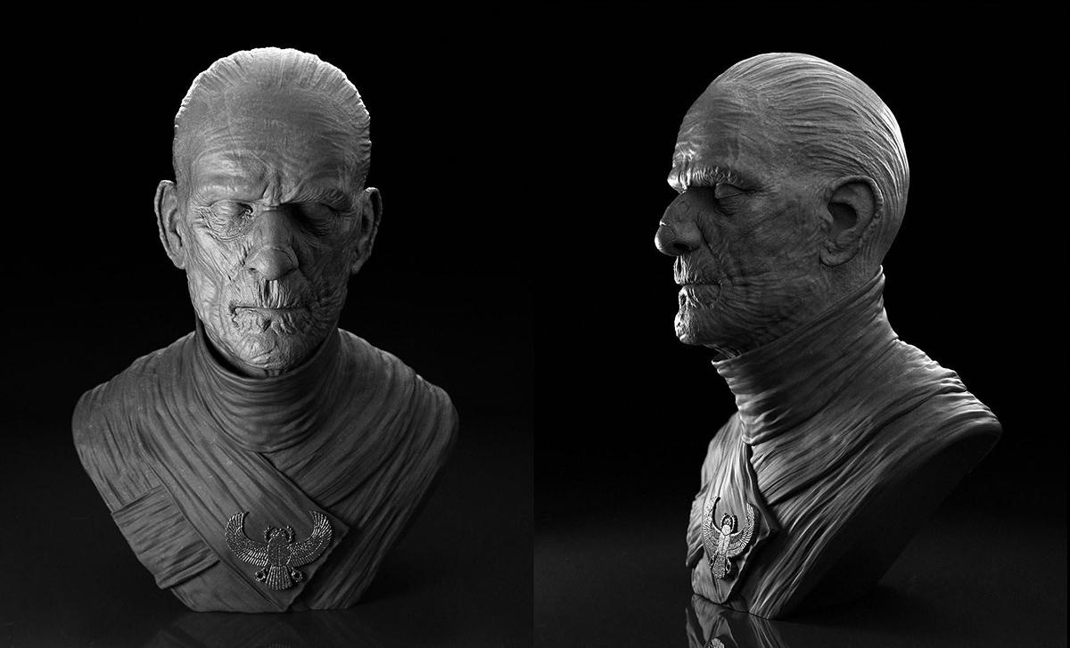 male mummy character design 3d