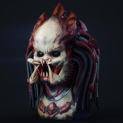 alien predator 3d art