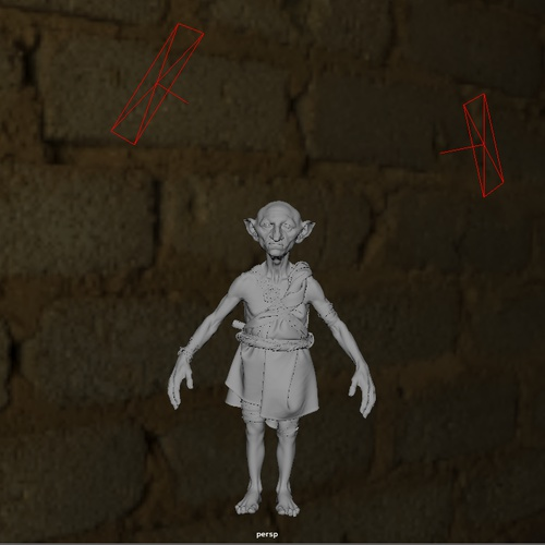 goblin  render modeling lord of the rings lighting direction pose  3d