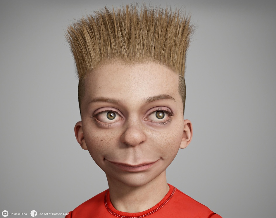 3D Model of Bart Simpson(Real time)by Hossein_Diba