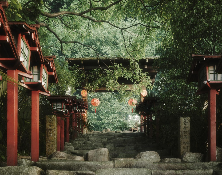 Step (Kifune Shrine-Kyoto)by Nic Nguyen
