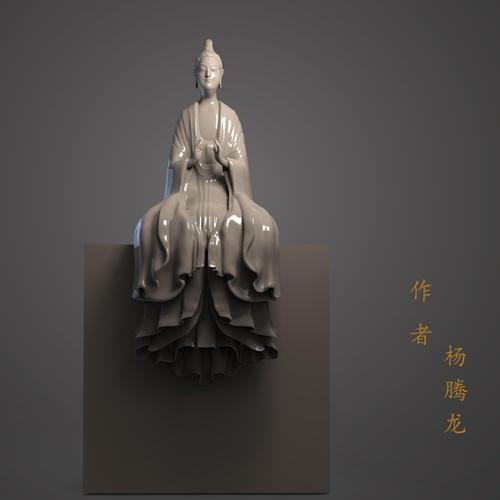 statue render model sculpt 3d asian character design