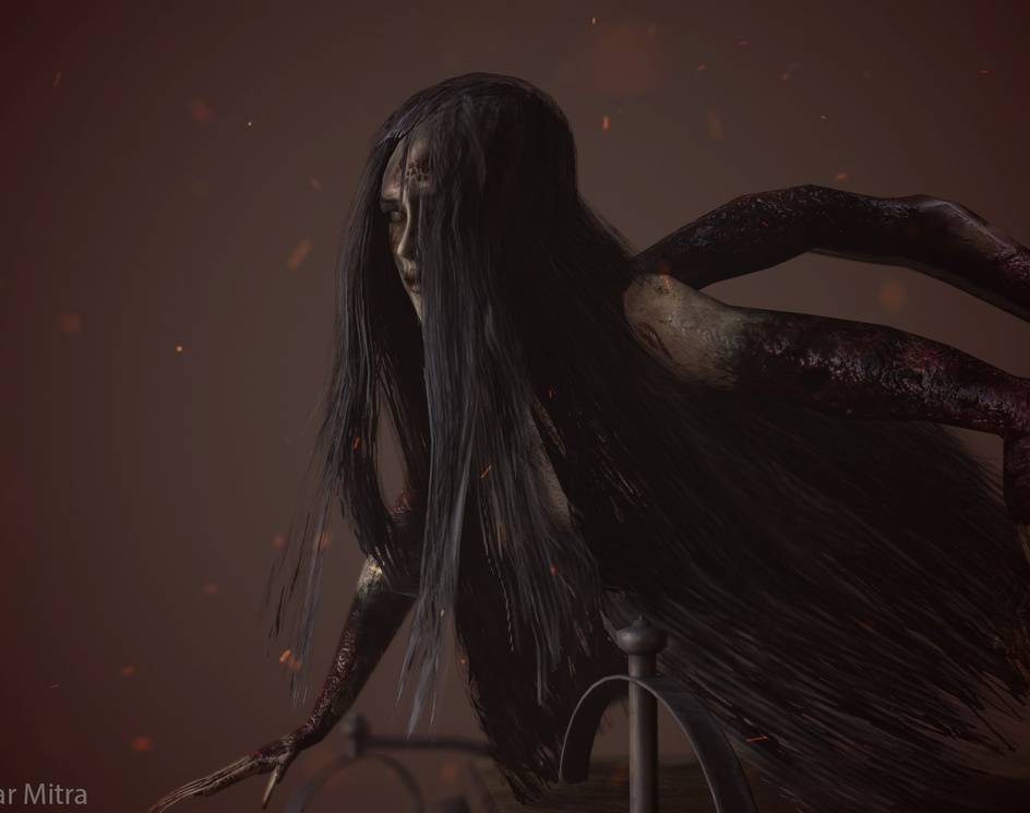 Laura (Creature) Evil Within Fan artby Abhik Mitra
