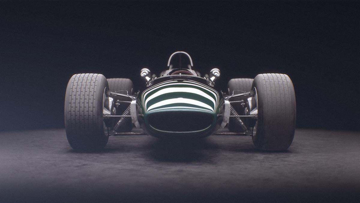 sports car 3d cgi