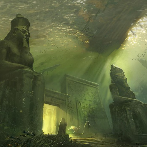 assassin's creed concept art underwater temple