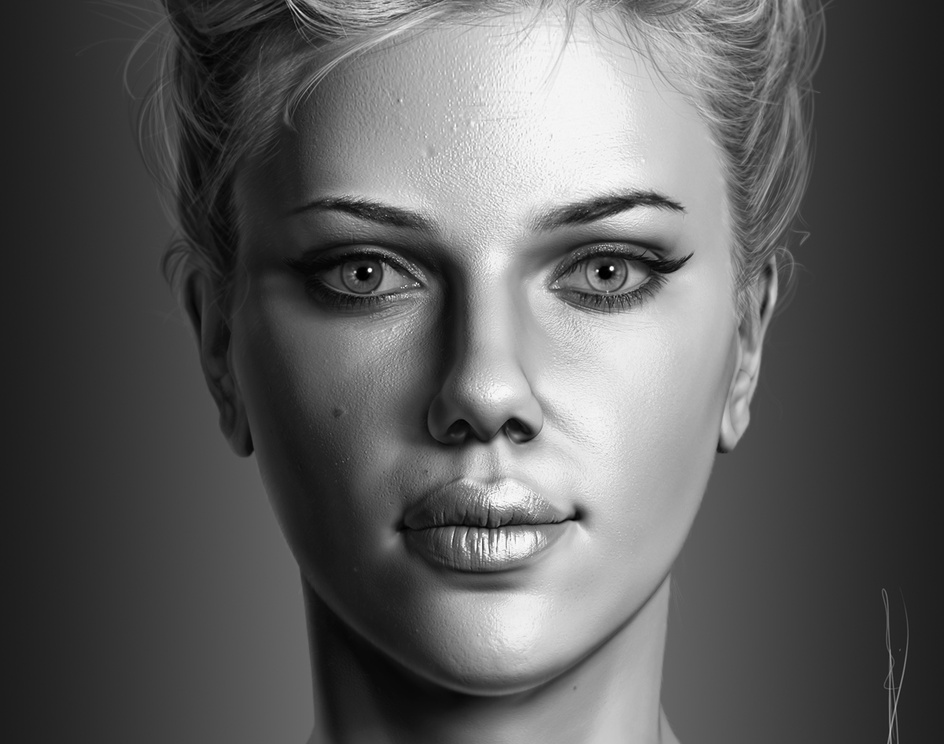 Portrait of Scarlett Johanssonby Ahmad_Ramadan