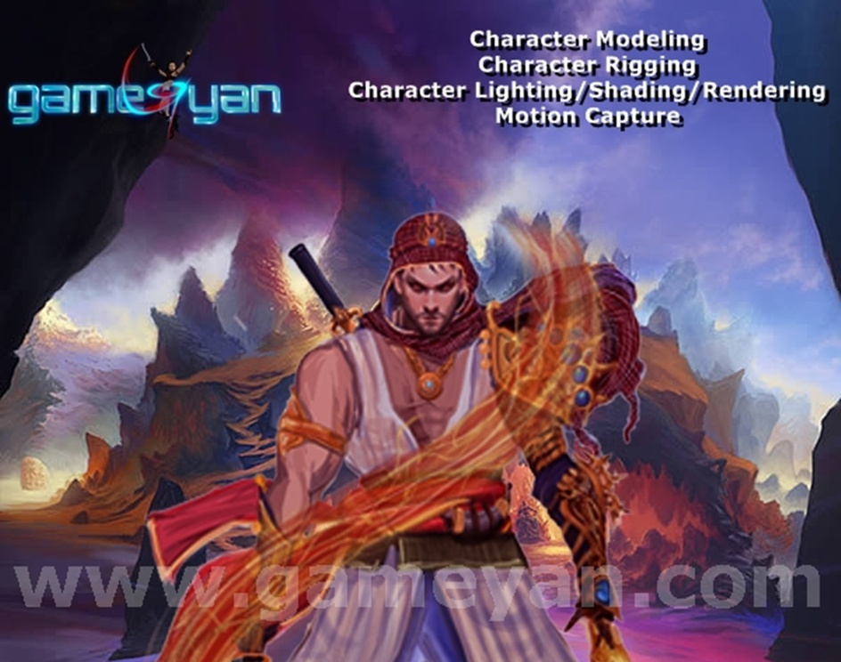 2D Concept Art Character Animation by game art outsourcing Studioby GameYan