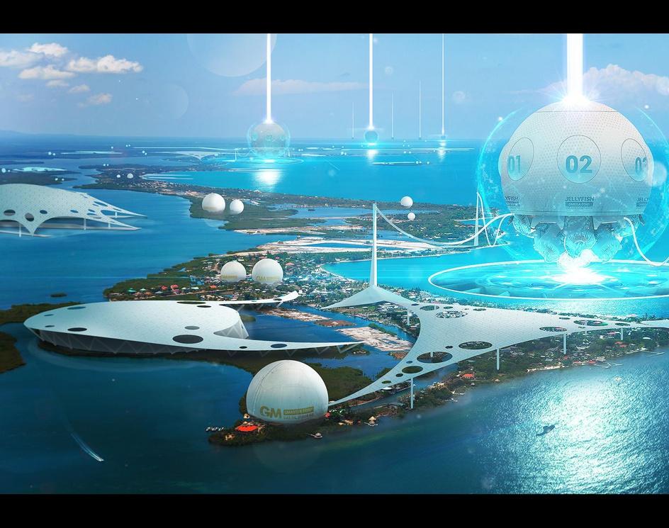 "Hydro generators ""Jellyfish Omega""by AlbertRP"