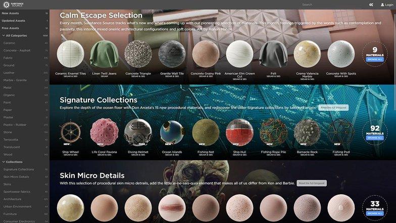 materials substance designer