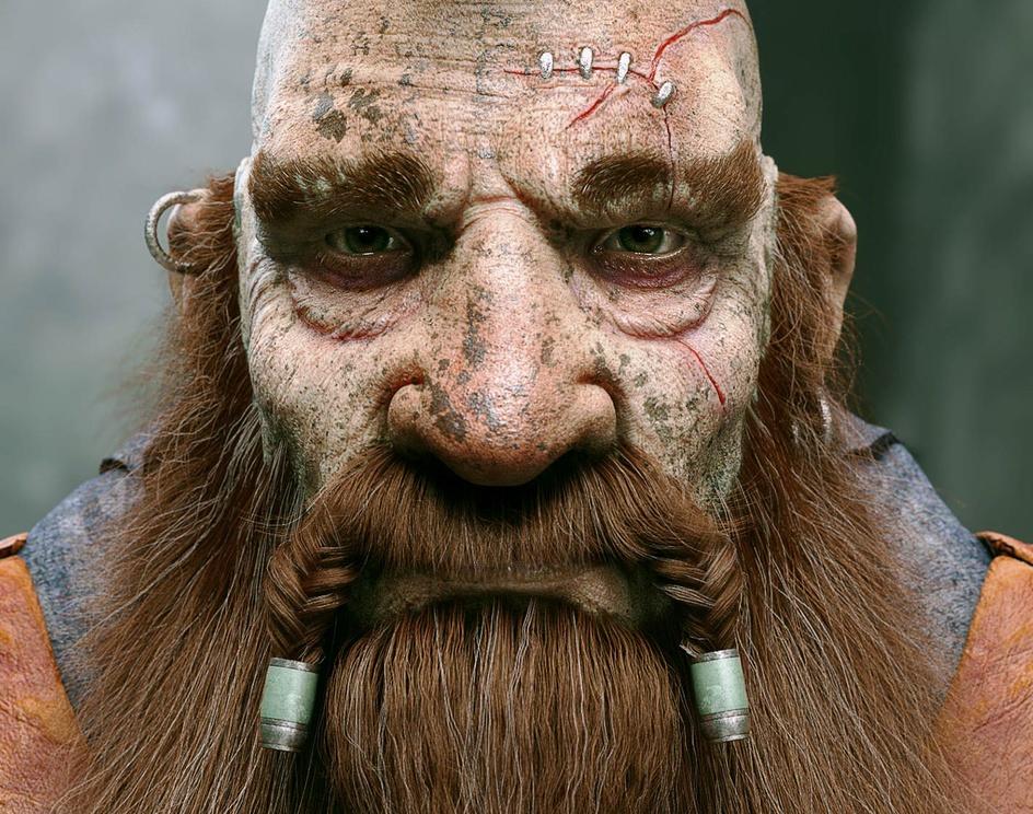 Dwarf Warriorby Ale Barbosa