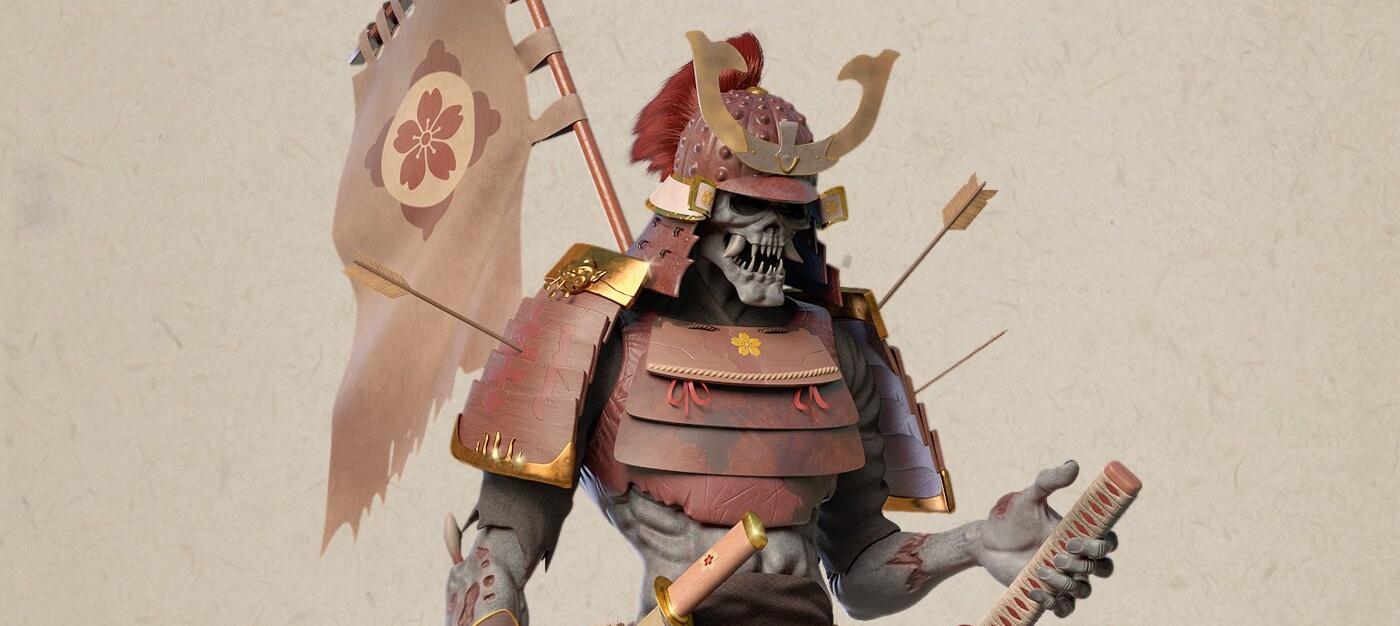 skeleton Samuraï