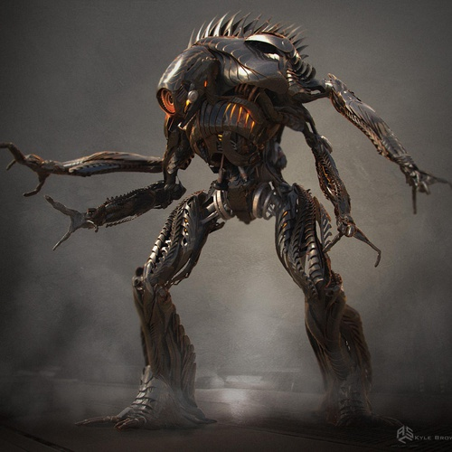 robot creature design futurist figure