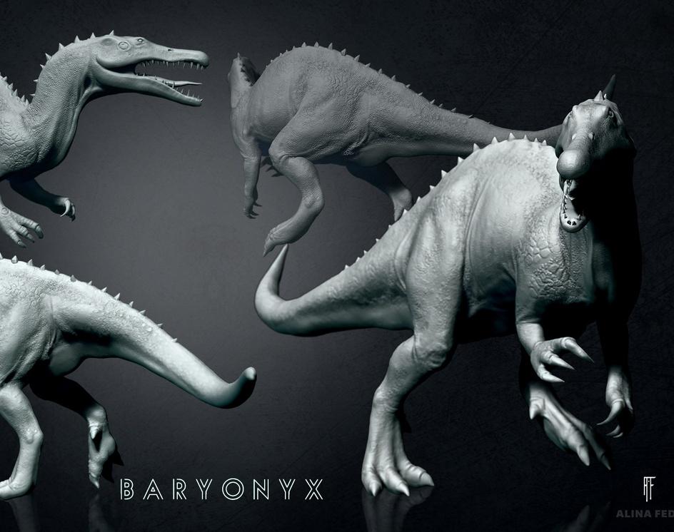 Dinosaurs (Iguanodon & Baryonyx)by Alina Fedaseyenka