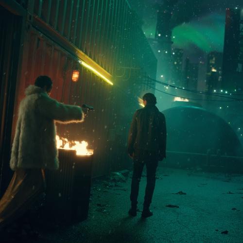 cyberpunk lighting effect netflix show