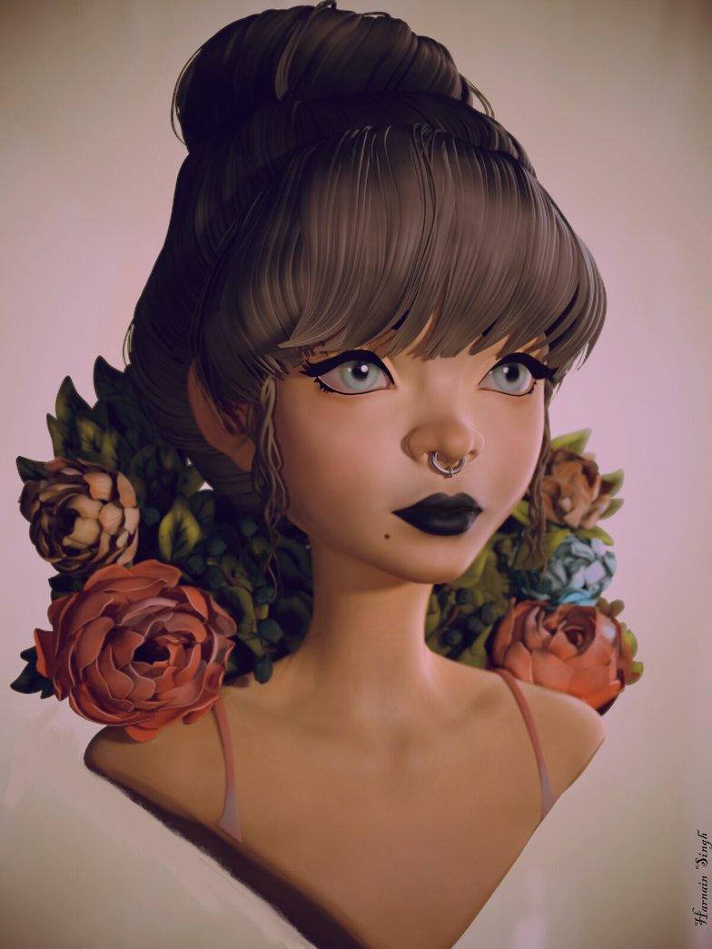 loish illustration 3d model inspiration