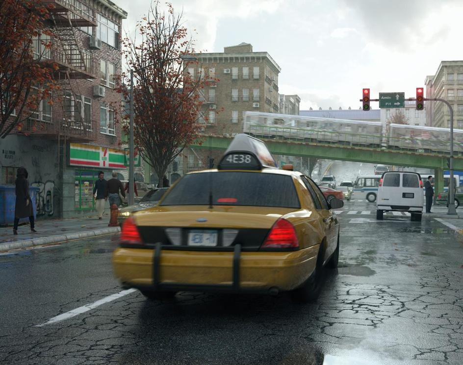 rainy streetby Amin.PH