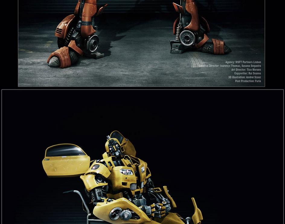 'RedBot' & 'YellowBot'by Mr. andrei szasz