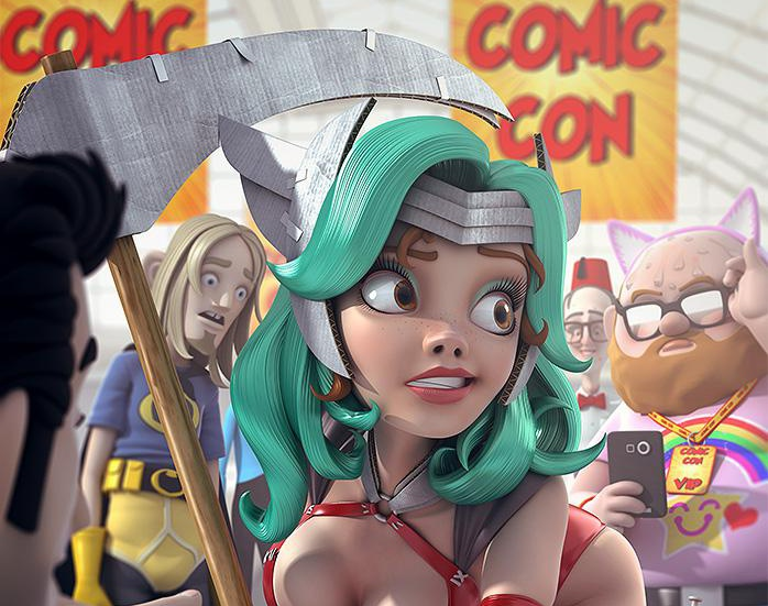Comic Con curvesby AndyH