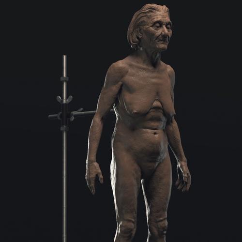 older woman 3d realistic model