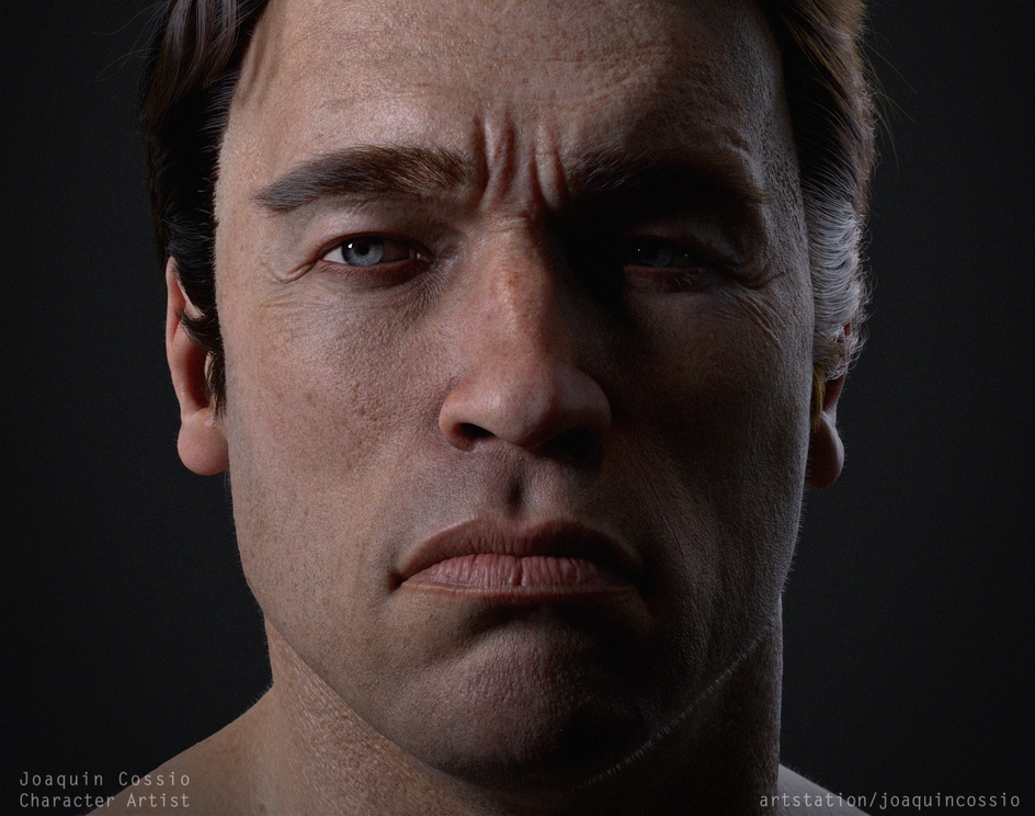 Young Arnold portraitby jcossioart