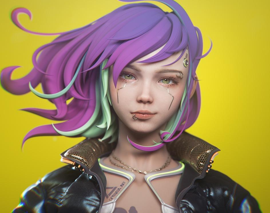 Cyberpunk A stylized characterby Hirokazu Yokohara