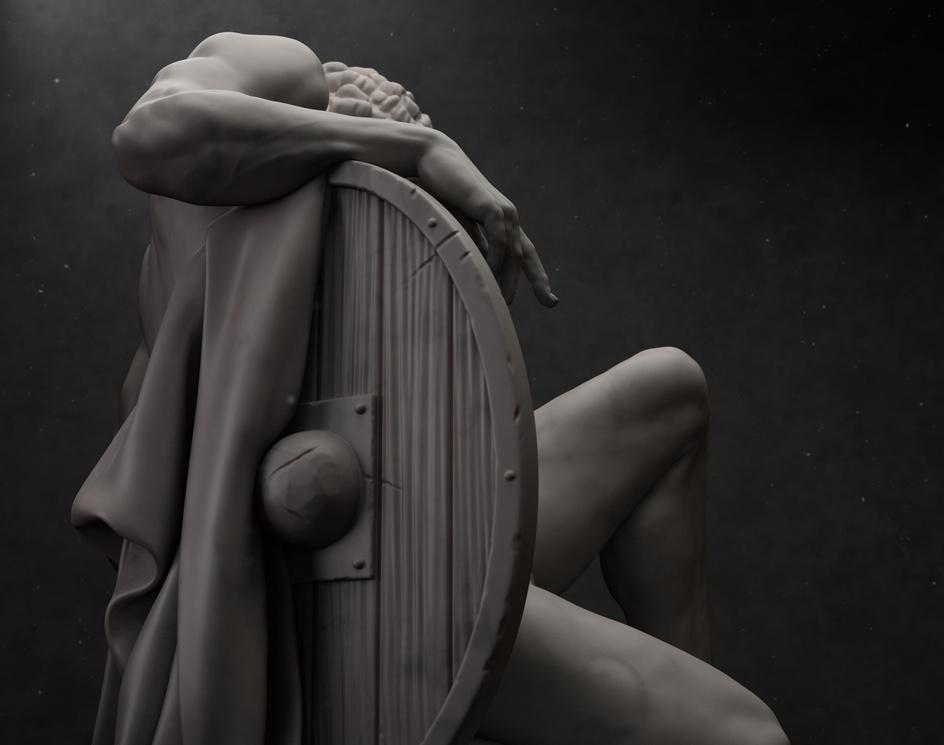 Dying Gladiator, UME, render 3by Ugo Maria Esposito