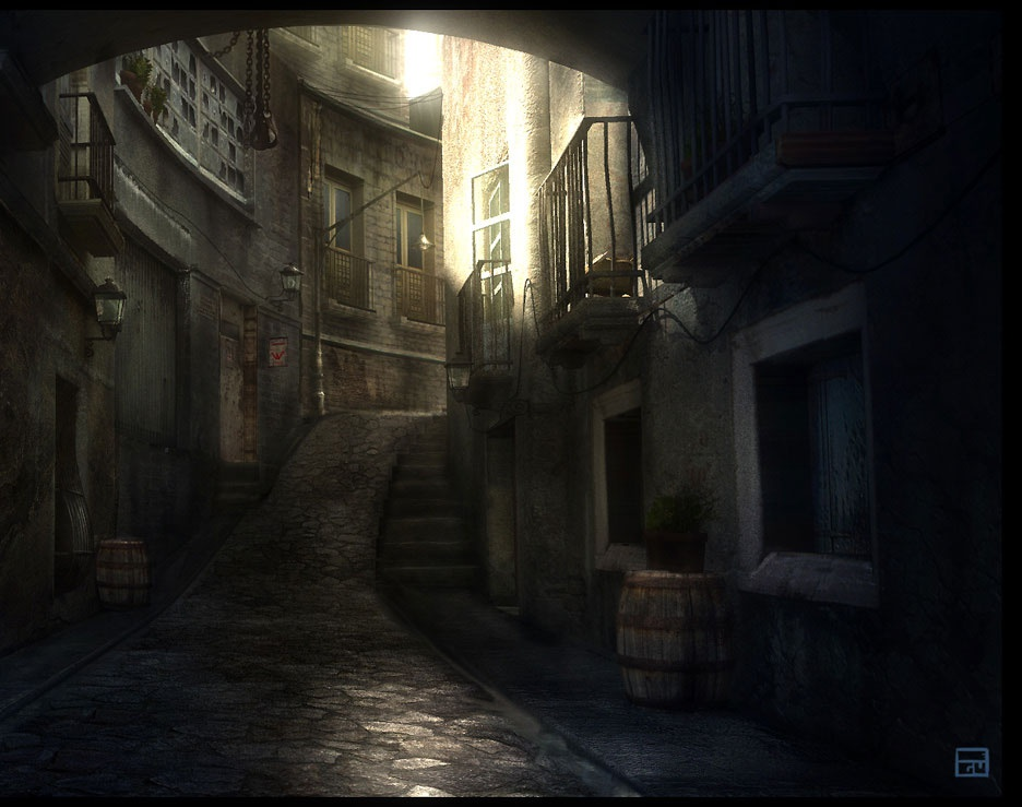 'Afternoon Alley'by artecnl