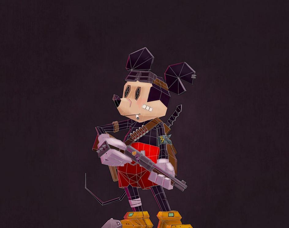 3D Mickey Apocalypticby Arthur Sarah