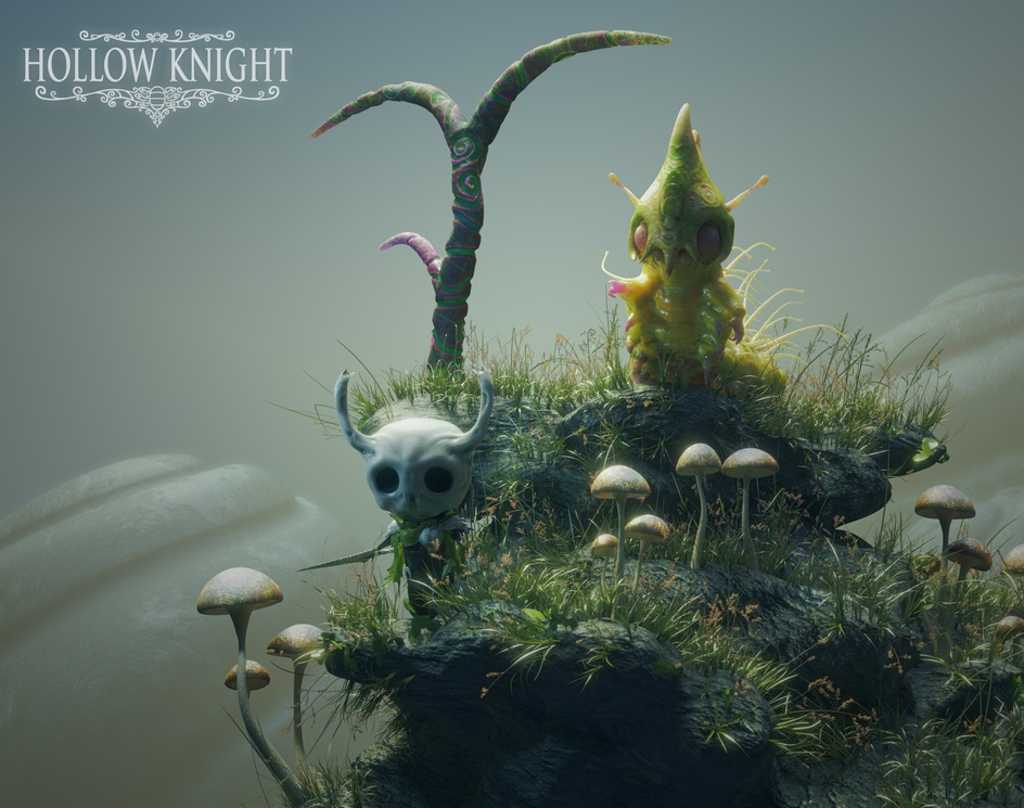 Hollow Knight and Battlepillarby Nelson R Junior