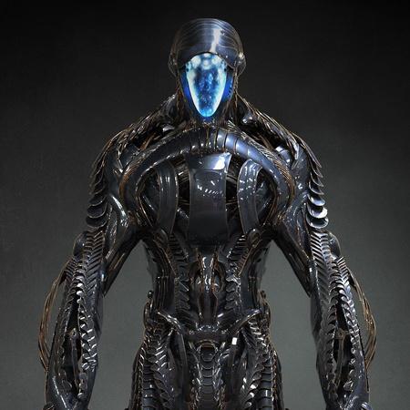 robot alien close up 3d sci-fi netflix