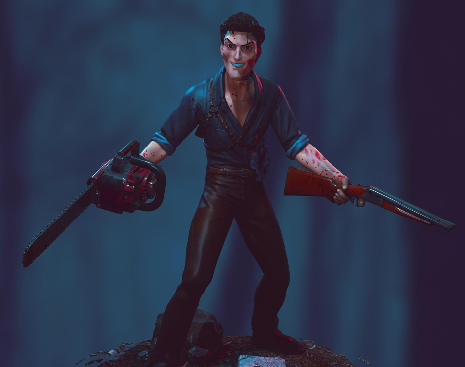 Ash Evil Dead Concept Artby Rafael Mustaine