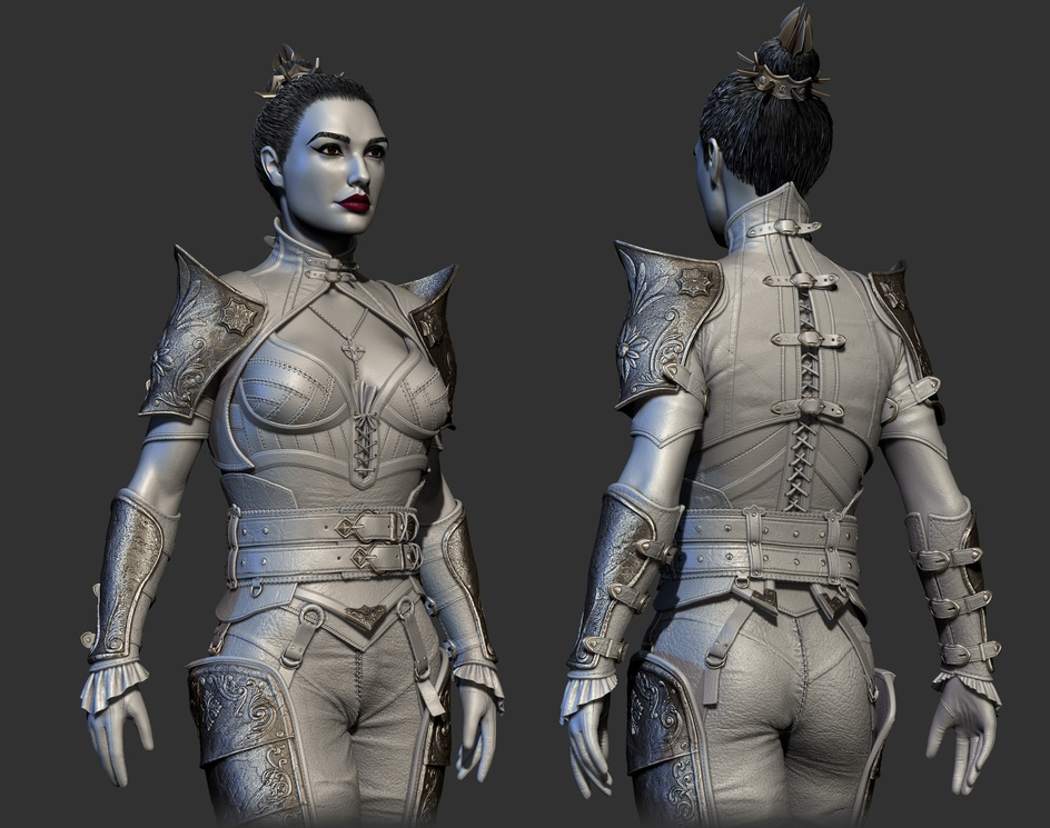 Diablo II Resurrected - Assassin character (highpoly) FanArtby Anton Galivets