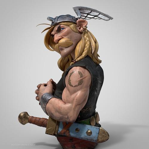 asterix, character, 3d