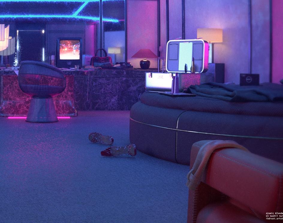Atomic Blonde Neon Room / Night Sceneby Sushil Suryavanshi