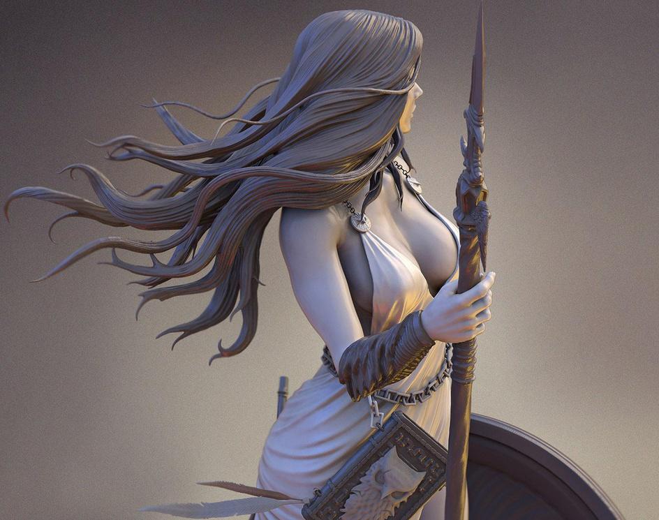 Athena Goddess of war and wisdomby S M Bonin