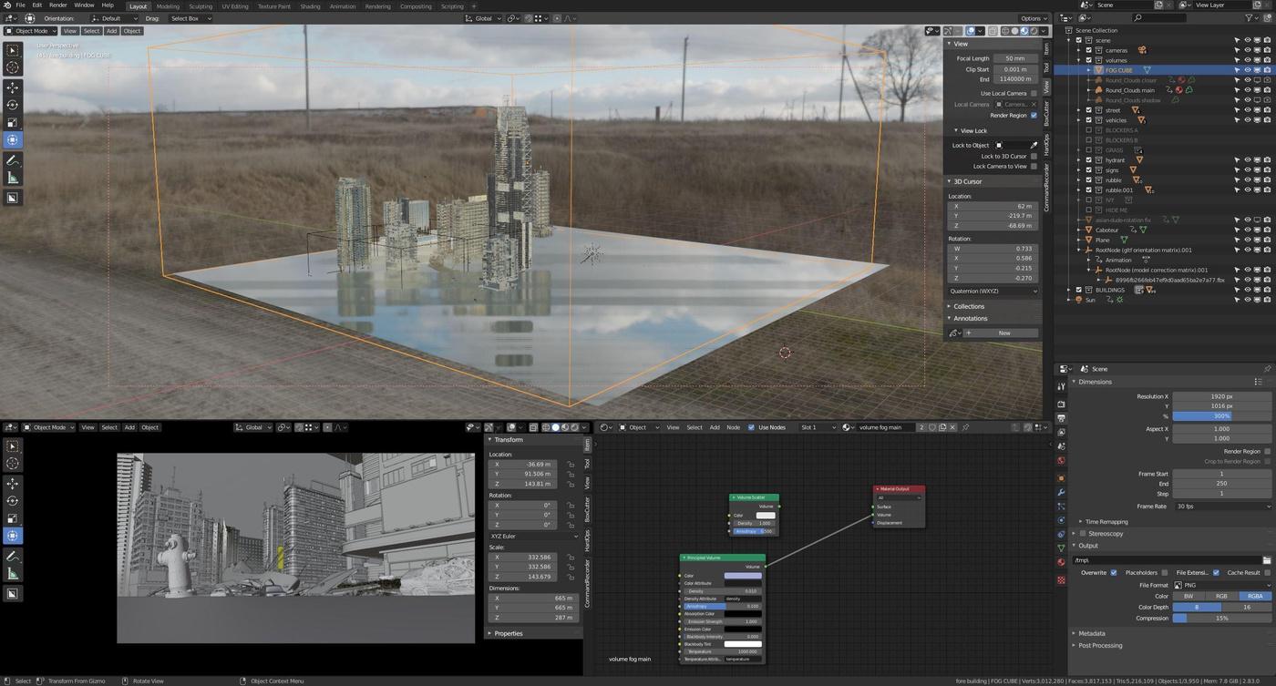 atmosphereics volumertrics cinematography 3d model